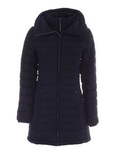 DKNY - Hooded down jacket in blue