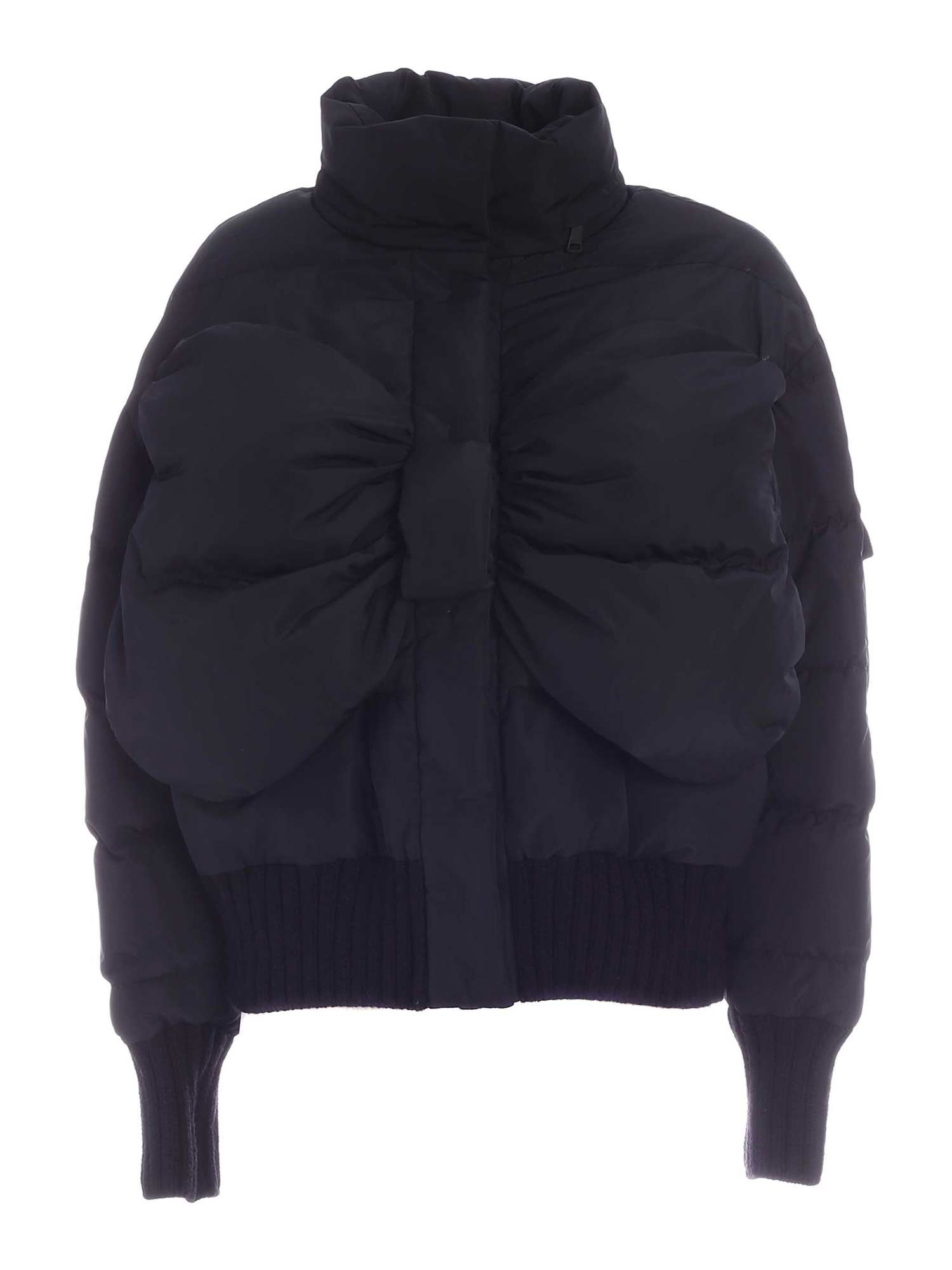 Vivetta BOW DOWN JACKET IN BLACK
