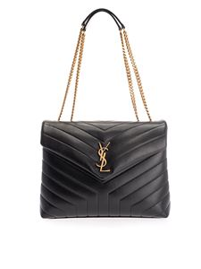 Saint Laurent - Loulou quilted bag in black