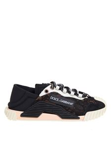 Dolce & Gabbana - Slip on ns1 in a mix of materials in black