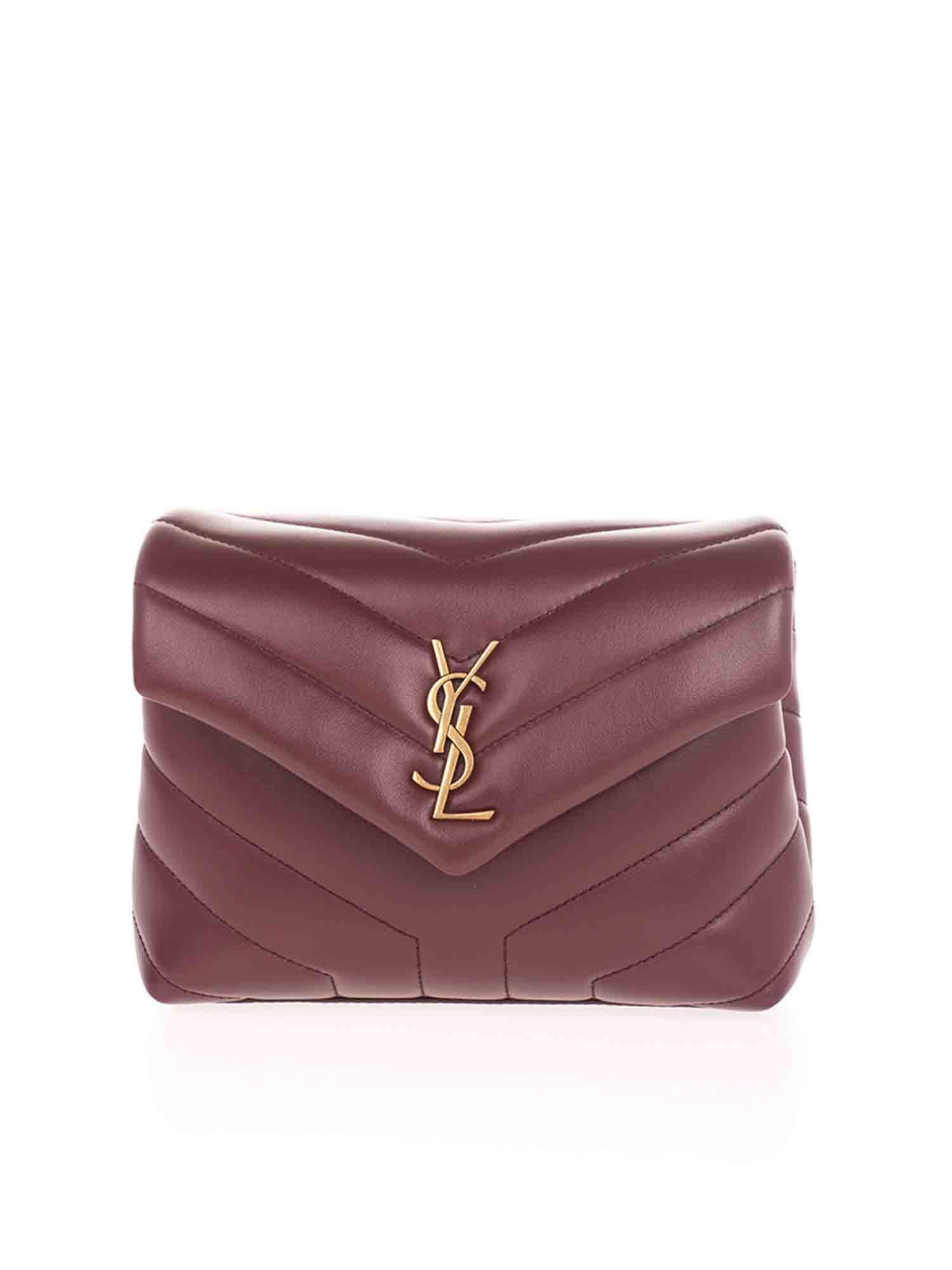 Saint Laurent LOULOU TOY BAG IN BURGUNDY