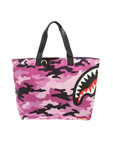 Sprayground - Split Camo Beach Tote camouflage bag in purple