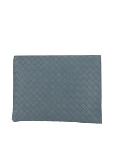 Bottega Veneta - Clutch in nappa incrociato grigio