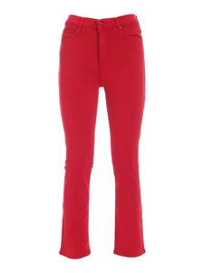 Mother - The Dazzler Ankle pants in red