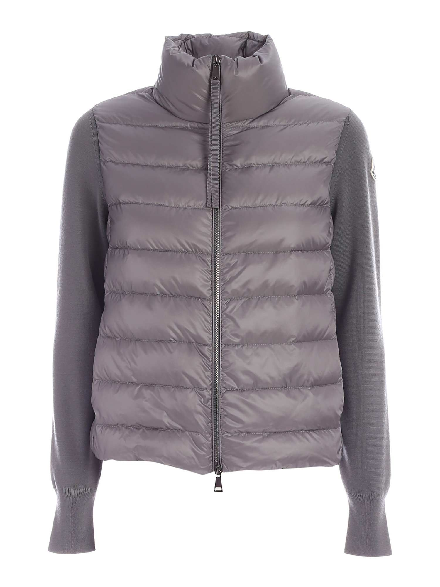 Moncler TRICOT CARDIGAN IN GREY
