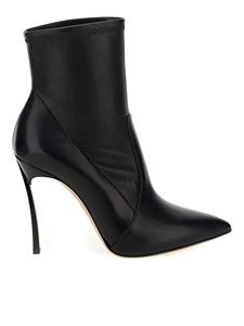 Casadei - Blade heel leather ankle boots in black
