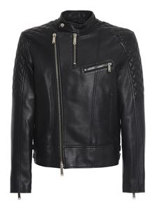 Dsquared2 - Lambskin biker jacket in black