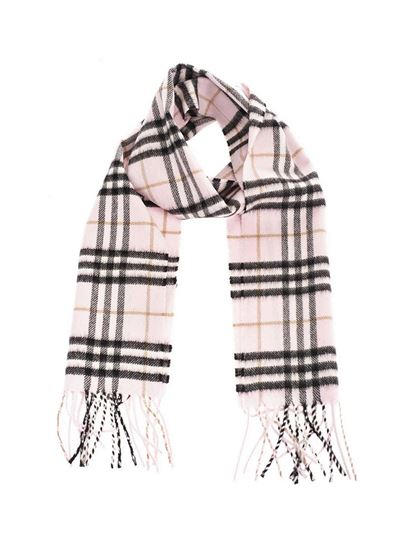 Burberry - Vintage check tartan scarf in pink