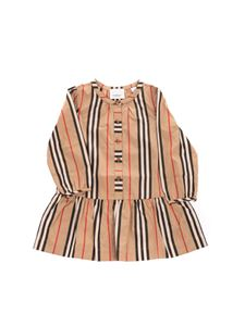 Burberry - Striped pattern dress in beige