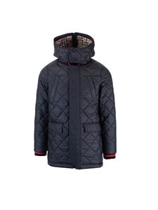 Burberry - Diamond quilted coat in black