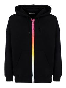Givenchy - Gradient effect logo hoodie in black