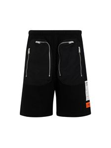Heron Preston - Shorts con tasche a zip nero