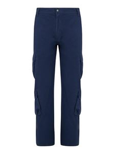 Kenzo - Cotton cargo trousers in blue