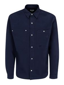 Kenzo - Patch pocket shirt in blue