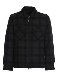 Woolrich - Reversible wool padded shirt in grey