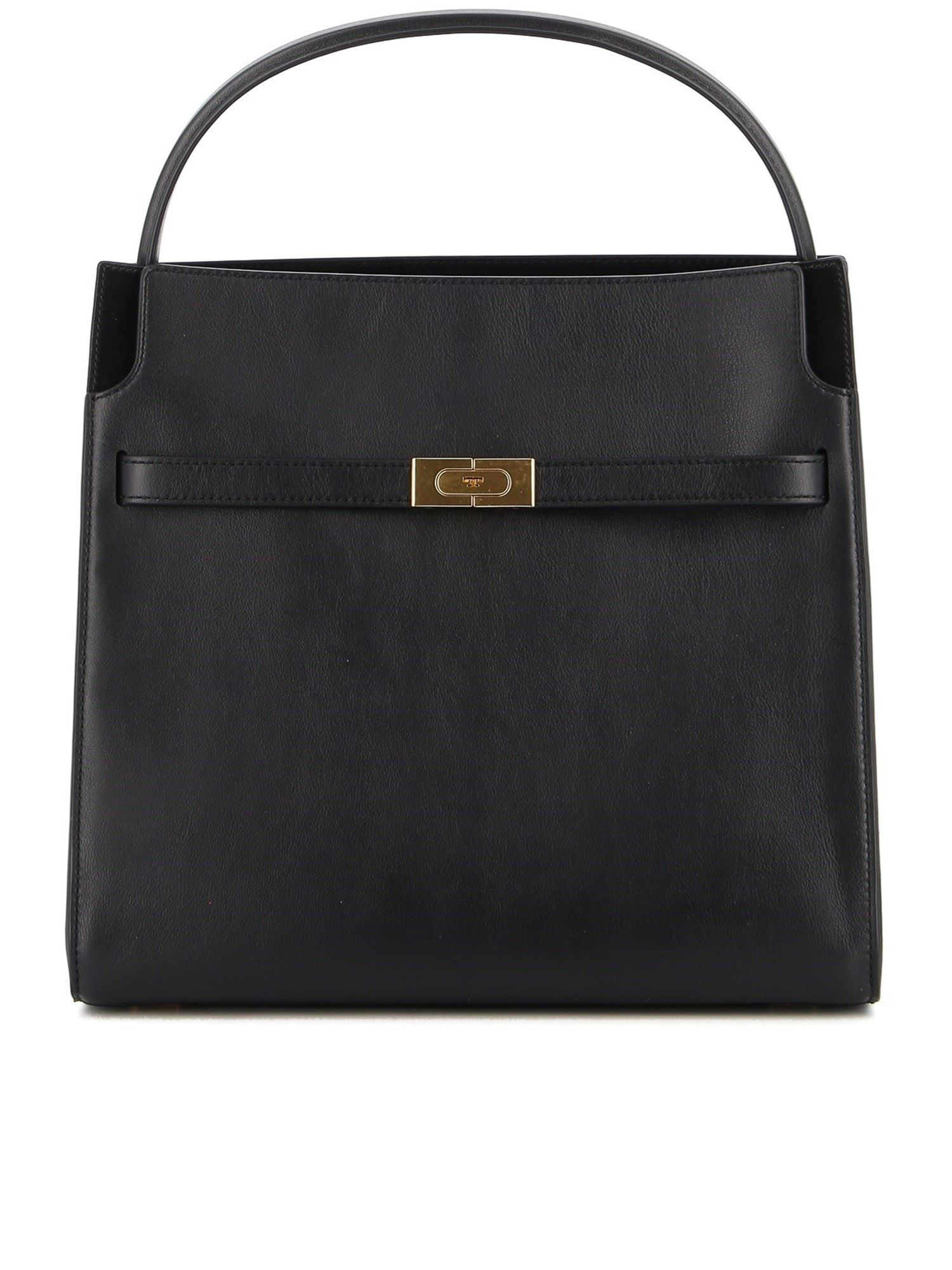 TORY BURCH DOUBLE LEE RADZIWILL SHOULDER BAG IN BLACK