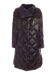 Fay - Quilted puffer jacket in black