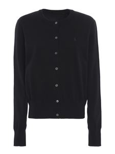 POLO Ralph Lauren - Logo embroidery stretch cotton cardigan in blue