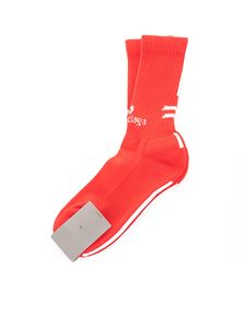 Balenciaga - Soccer socks in red and white