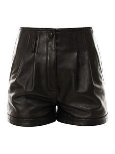 Saint Laurent - Shorts in pelle nera