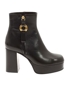 See by Chloé - Round toe ankle boot in black