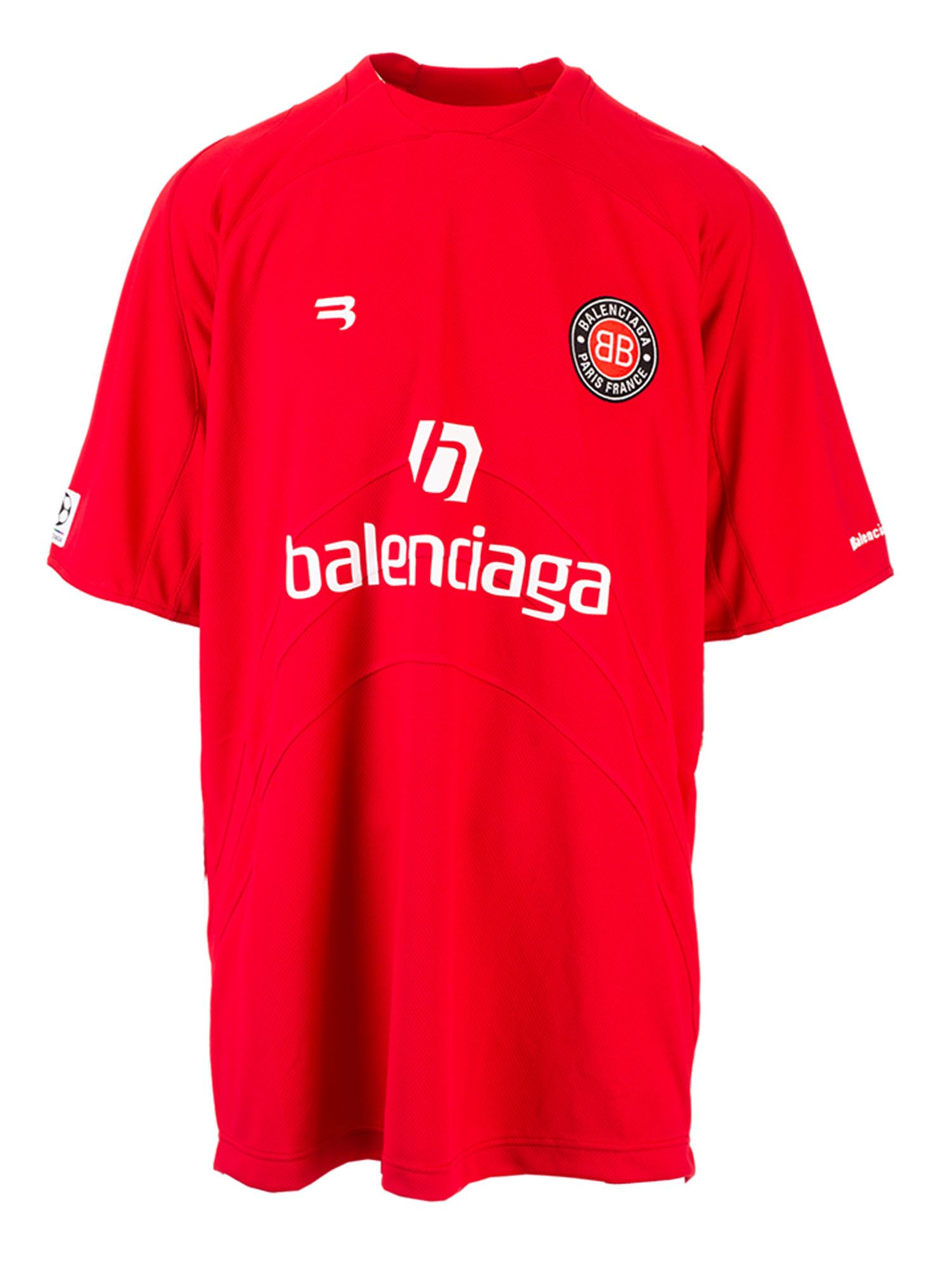 Balenciaga SOCCER T-SHIRT IN RED