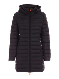 Save the duck - Waisted puffer jacket in black