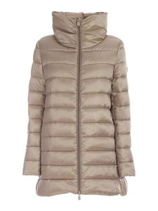 Save the duck - Crater collar puffer jacket in beige