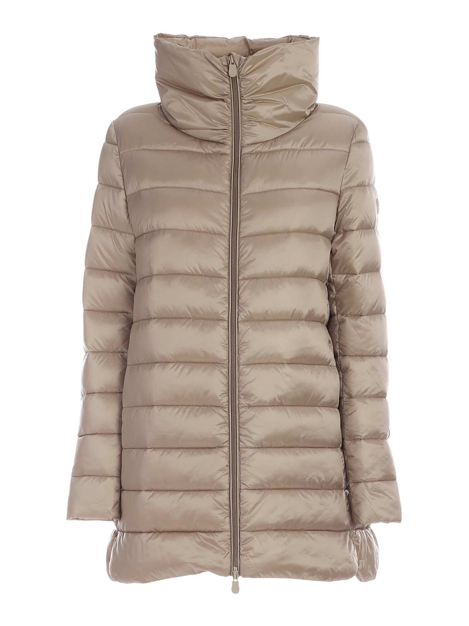 Save The Duck CRATER COLLAR PUFFER JACKET IN BEIGE