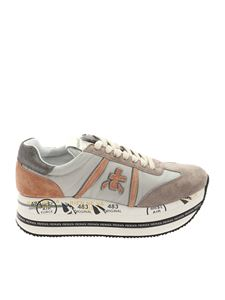 Premiata - Beth sneakers in grey and pink