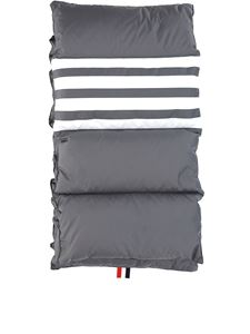 Thom Browne - 4-Bar stripe padded scarf