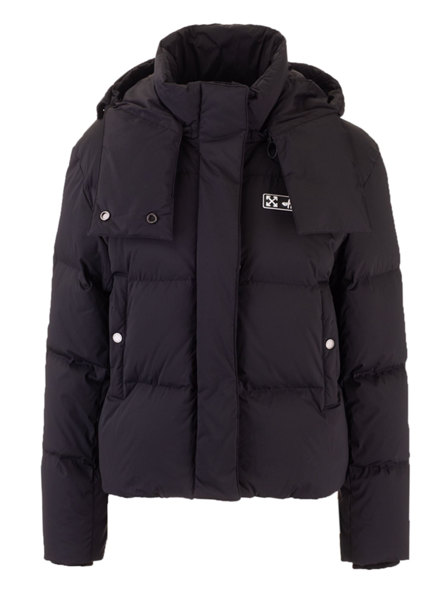 Off-White HOODED DOWN JACKET IN BLACK