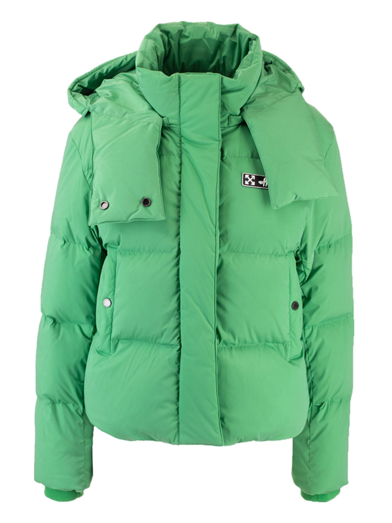 Off-White HOODED DOWN JACKET IN GREEN