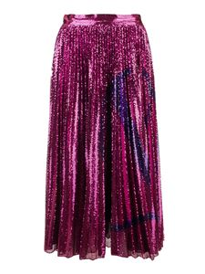 Valentino - VLogo Signature sequined skirt in fuchsia