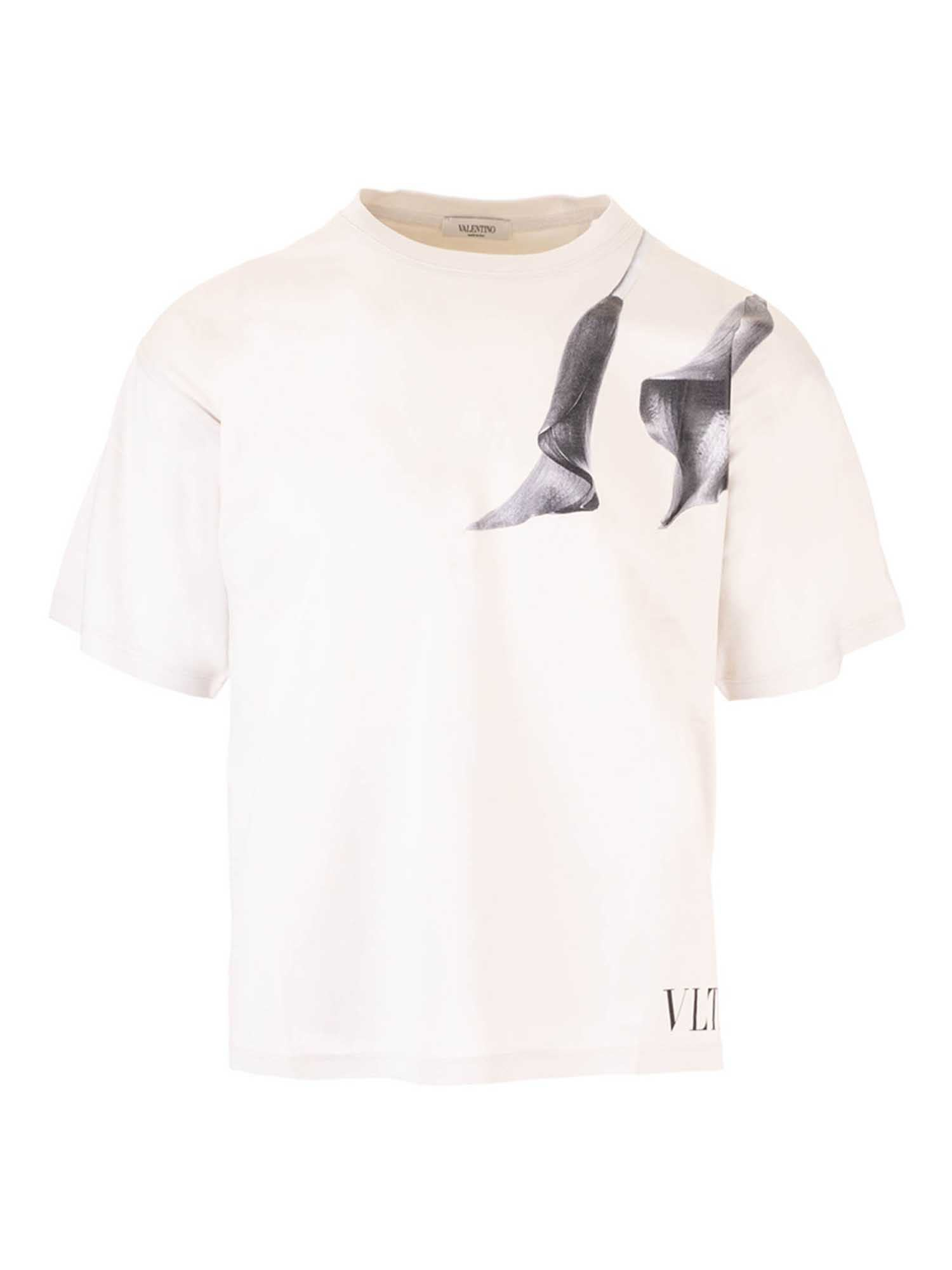 Valentino PRINTED T-SHIRT IN LIGHT BEIGE