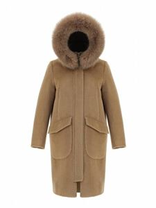 Herno - Hooded coat in camel color