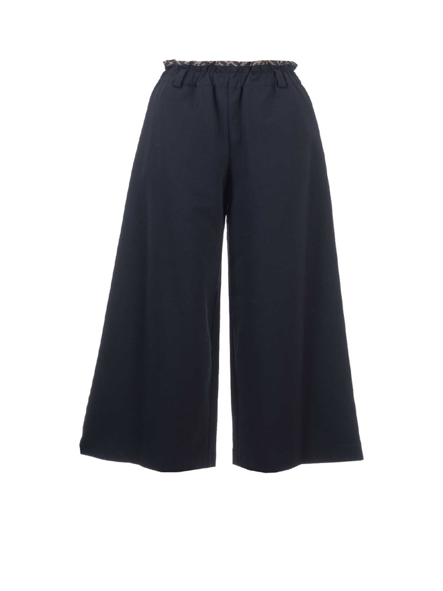 Fendi Jr FF BAND CROP PANTS IN BLACK