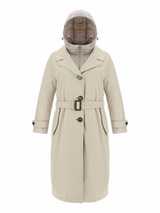 Herno - Padded trench coat in Chantilly color
