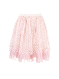 Gucci - GG garland embroidery skirt in pink