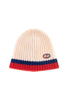 Gucci - Wool beanie in ivory red and blue