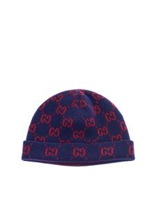 Gucci - GG beanie in blue