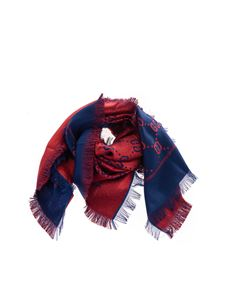 Gucci - GG scarf in blue and red