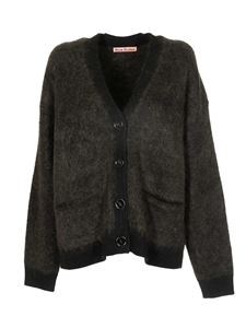 Acne Studios - Brushed cardigan in Black and Olive