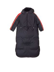 Gucci - Down jacket with detachable sack in blue
