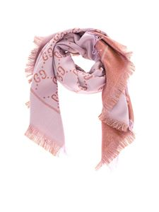 Gucci - GG scarf in lilac and brown