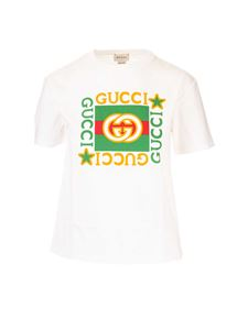 Gucci - Branded T-shirt in ivory color
