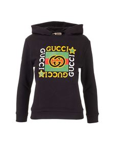 Gucci - Branded hoodie in black