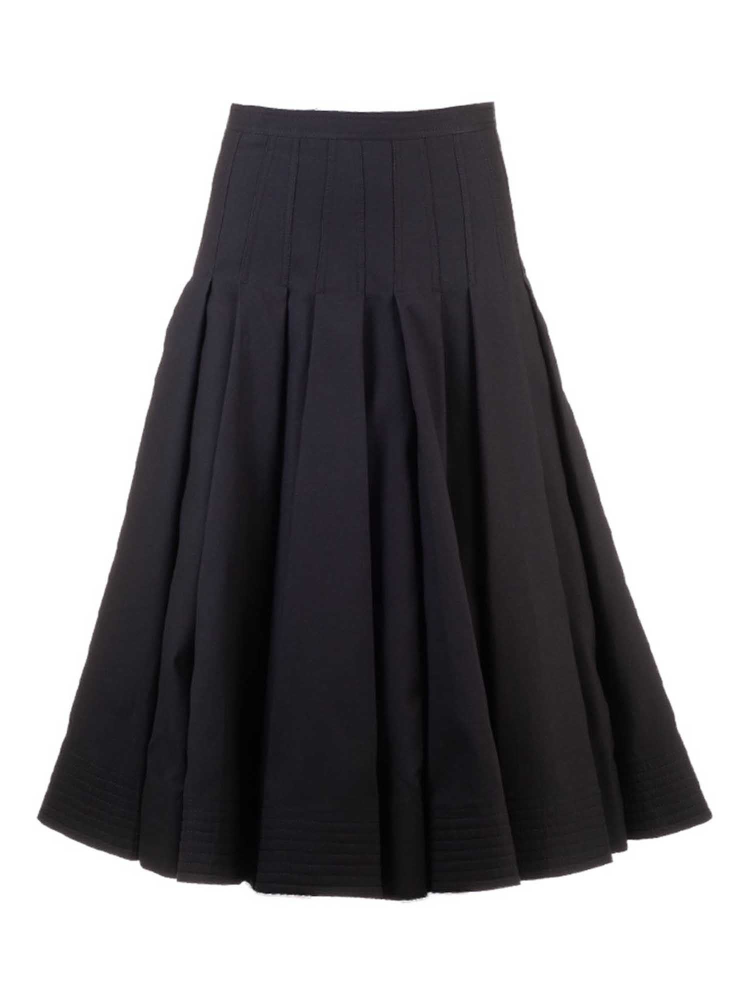 Valentino PLEATED SKIRT IN BLACK