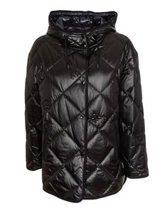 Fay - Quilted parka in black