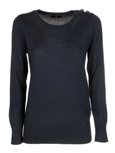 Fay - Buttoned sweater in blue